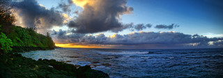 Princeville sunset panoramic